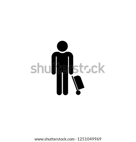 tourist vector icon. tourist sign on white background. tourist icon for web and app