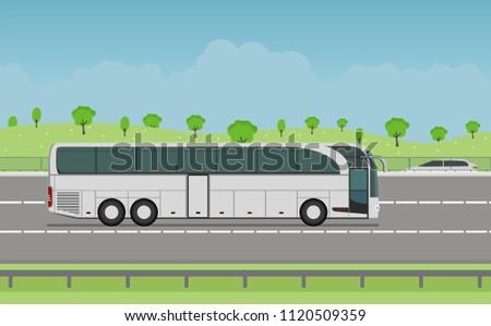 tourist white modern bus