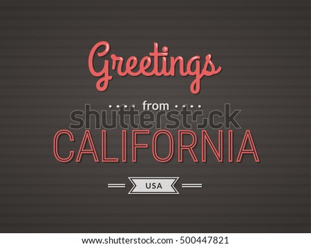 Greetings from new jersey illustration download free vector art touristic greeting postcard greetings from california usa m4hsunfo