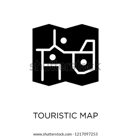 Touristic map icon. Touristic map symbol design from Maps and locations collection. Simple element vector illustration on white background.