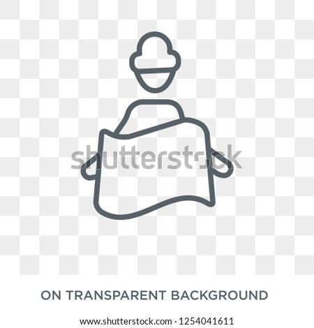 Touristic map icon. Trendy flat vector Touristic map icon on transparent background from Maps and Locations collection. High quality filled Touristic map symbol use for web and mobile