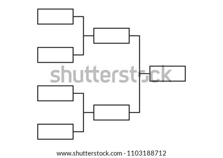 Tournament bracket blank template vector download free vector art tournament bracket 4 team icon template maxwellsz