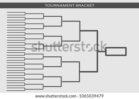 Tournament Bracket Blank Template Vector  Download Free Vector Art