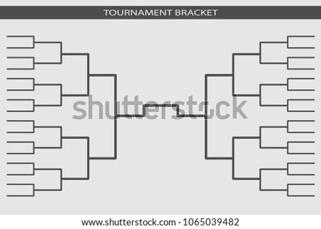 Tournament Bracket Blank Template Vector - Download Free Vector Art ...