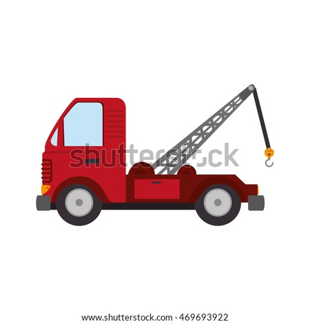 tow crane truck vehicle cargo