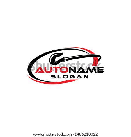 Tow or Crane Load Hook Logo Illustration Square for Towing Truck