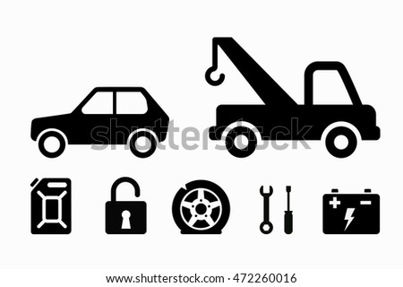 Towing Icons Vector Download Free Vector Art Stock Graphics Images