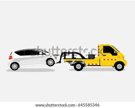Tow Truck. Vector