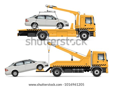 tow truck vector mock up....