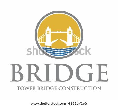 tower bridge logo construction