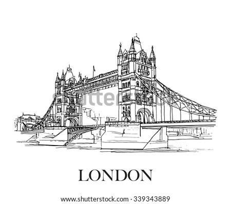 tower bridge  london  uk hand
