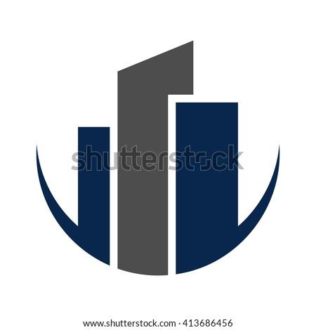 tower logo vector building