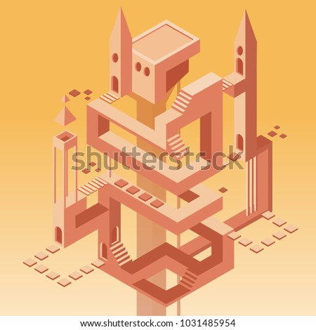 tower with many ways  doors and