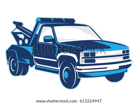 towing truck illustration