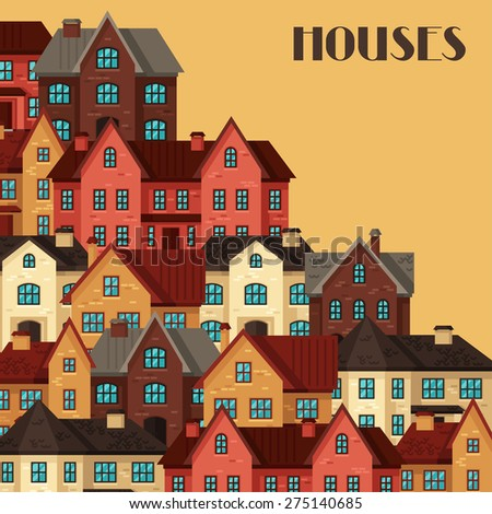 town background design with