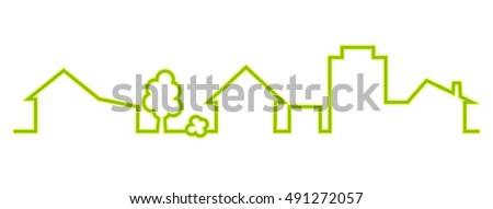 town  black silhouette  vector