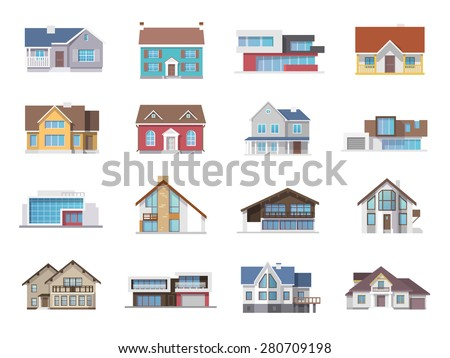 town house cottage and assorted
