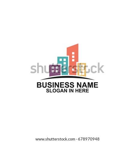 Town Logo Template Design