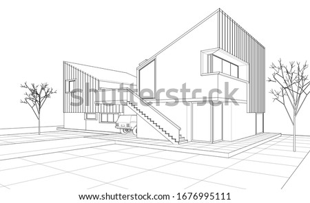 townhouse architectural sketch