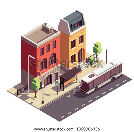 townhouse buildings isometric