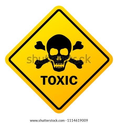 Toxic safety sign vector illustration isolated on white background