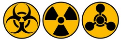 Toxic sign, symbol. Warning radioactive zone graphic vector