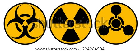 Toxic sign, symbol. Warning radioactive zone graphic vector