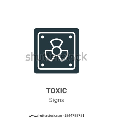 Toxic symbol vector icon on white background. Flat vector toxic symbol icon symbol sign from modern signs collection for mobile concept and web apps design.