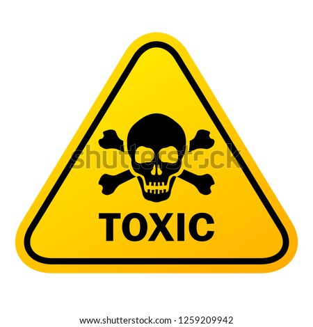 Toxic vector sign illustration isolated on white background Stock fotó ©