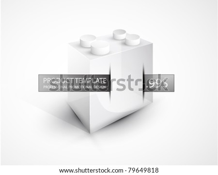 Toy block. Vector promotional background