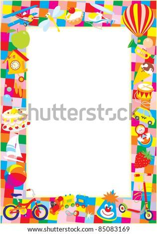 Baby Toys Clipart Border