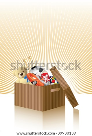 Toy box. For more cool vectors see my gallery.
