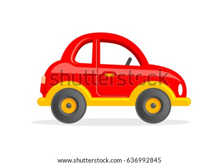 Toy Car. Cartoon Vector Illustration.