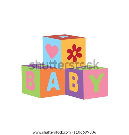toy cubes icon  vector