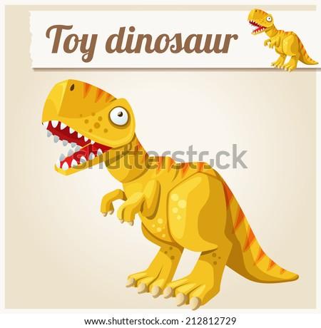 toy dinosaur cartoon vector