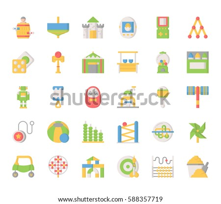 Toy Elements , Thin Line and Pixel Perfect Icons ストックフォト ©
