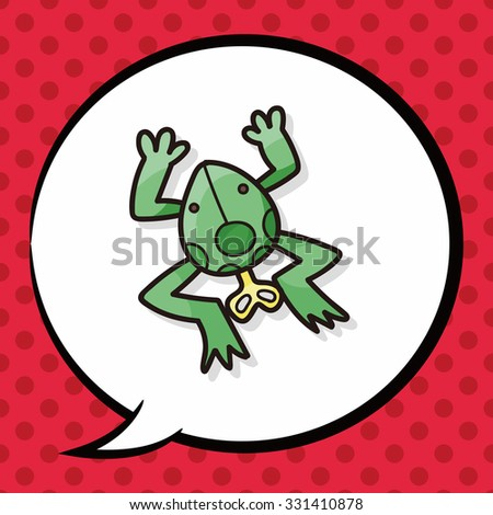 toy frog doodle  speech bubble