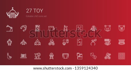 toy icons set collection of