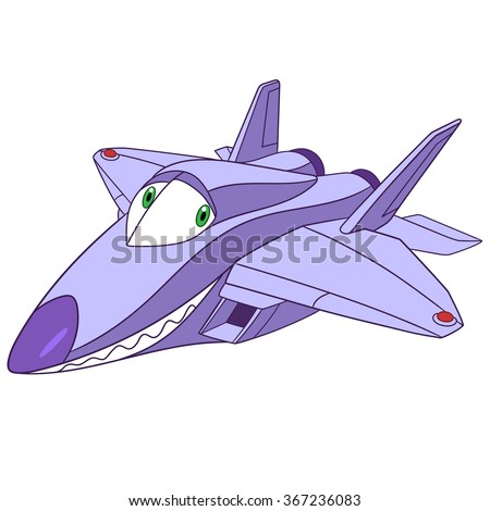 toy plane  f 22 raptor cartoon