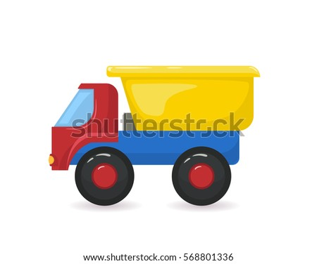 toy plastic truck isolated on