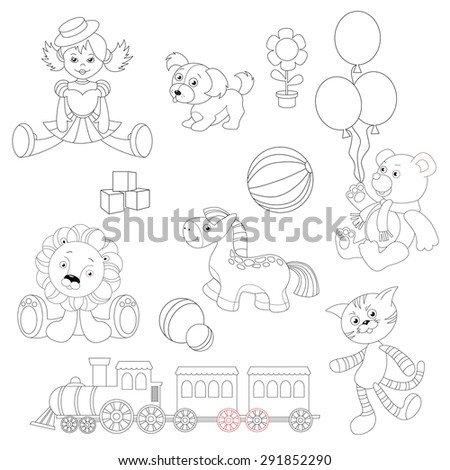 toy set to be colored doll in