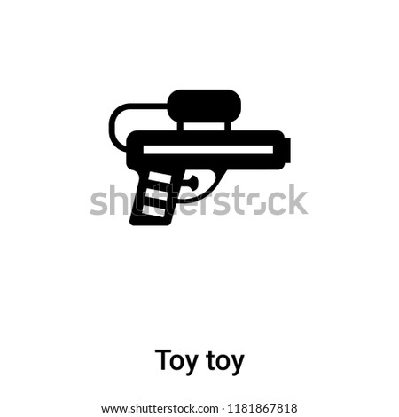Toy toy icon vector isolated on white background, logo concept of Toy toy sign on transparent background, filled black symbol
