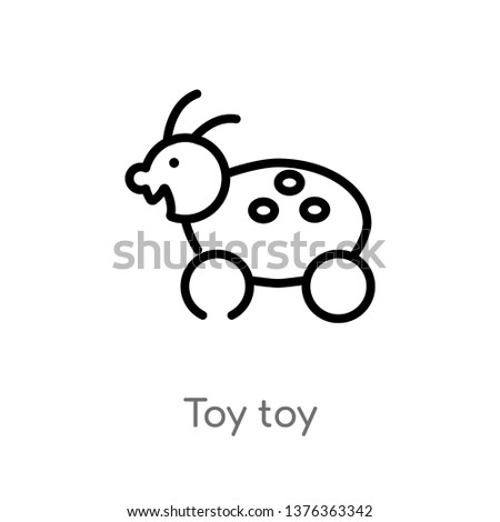 toy toy vector line icon. Simple element illustration. toy toy outline icon from toys concept. Can be used for web and mobile