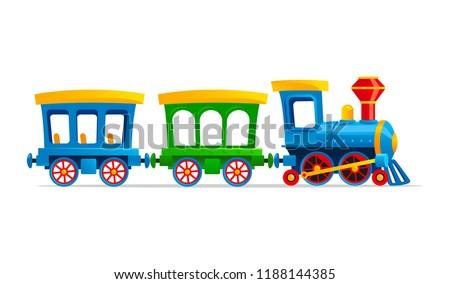 toy train cartoon vector