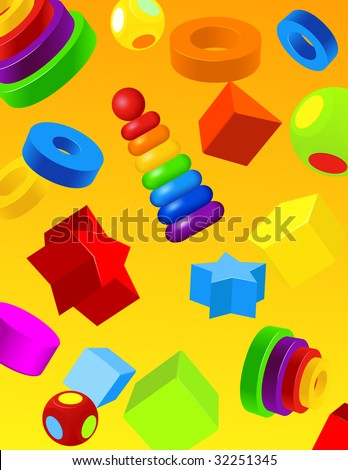 Toys background, vector illustration, EPS file included
