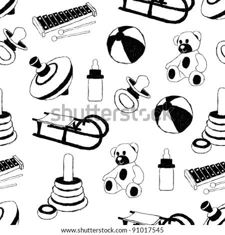toys doodle pattern
