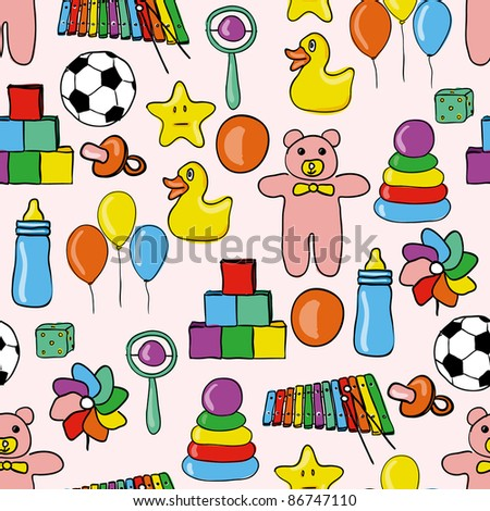 toys seamless pattern