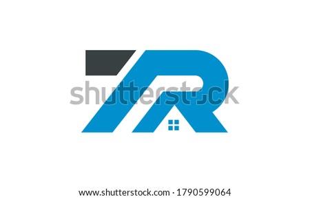 tr roof logo symbol illustration design sign icon Stock fotó ©