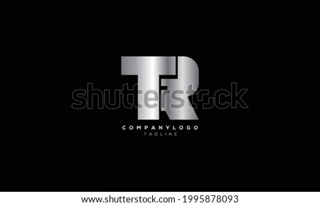 TR RT T AND R Abstract initial monogram letter alphabet logo design Stock fotó ©