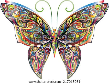 tracery butterfly  bright